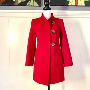 Red coat in size PP
